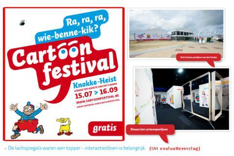 Met trots hebben wij 10 XXL lachspiegels geleverd aan het cartoonfestival Knokke-Heist.
