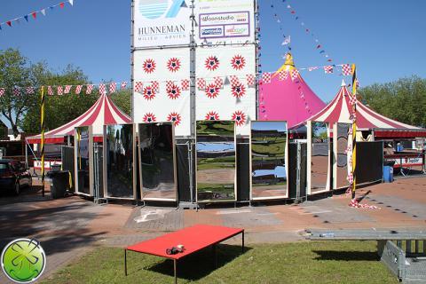 Uitermate geschikt voor de grotere festivals in Nederland, België en Duitsland: XXL Lachspiegels!
