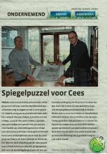 Lachspiegelexpert Ronald Kooij met fanatiek puzzelaar Cees Conijn.